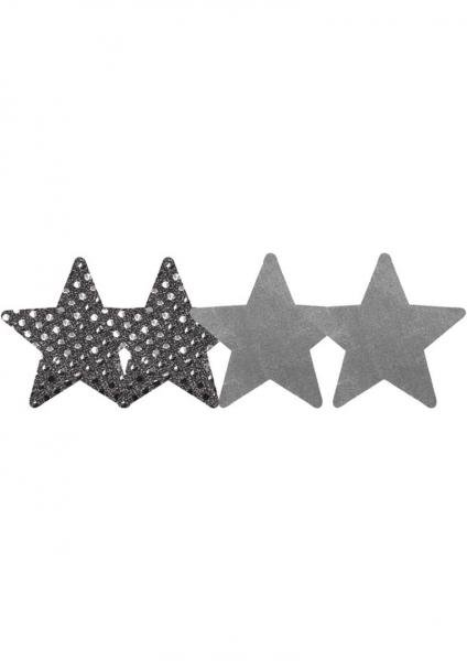 Dark Angel Stars Silver Pack Of 2 Pairs