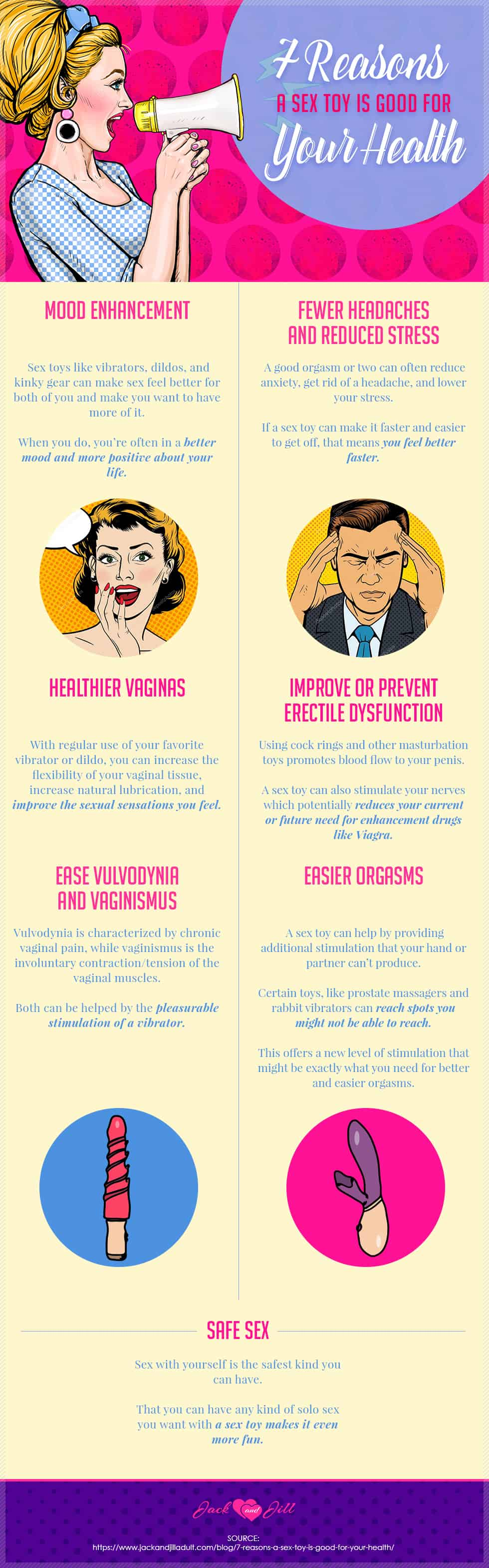 Infographic for 7 Reasons a Sex Toy is Good for Your Health
