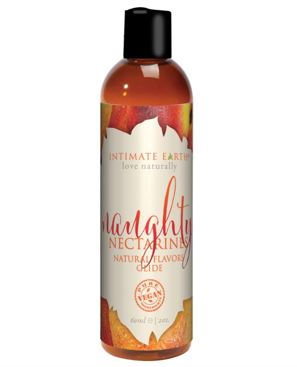 Intimate Earth Natural Flavors Glide - 60 ml Naughty Nectarines
